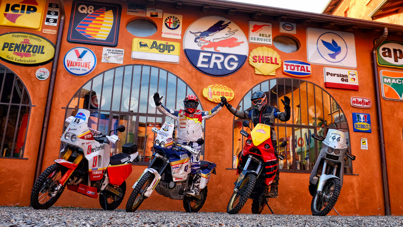 A Tradate moto e piloti della storia della Dakar